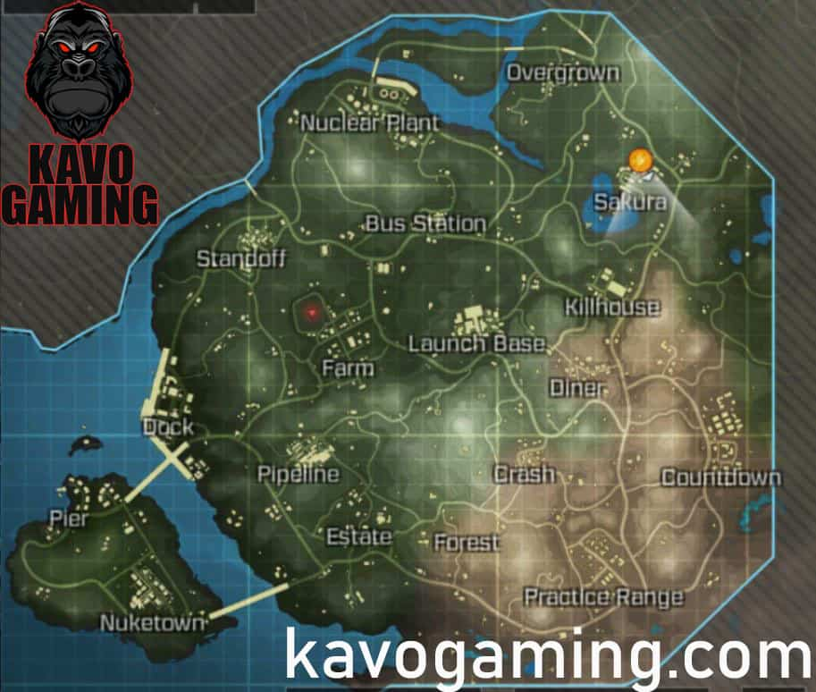 COD Mobile Map Layout
