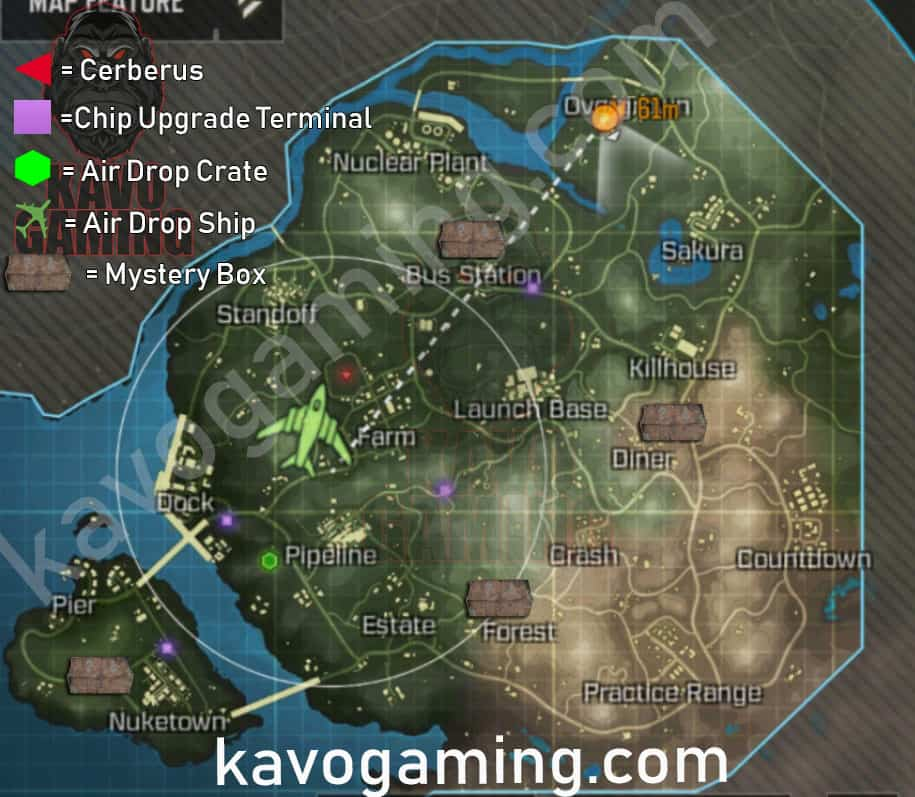 COD Mobile Map Features