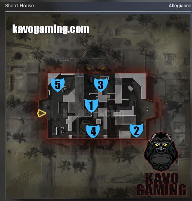 Shoot House Hardpoint Locations and Rotations MW