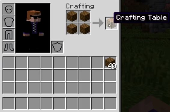 How to make a crafting table in Minecraft