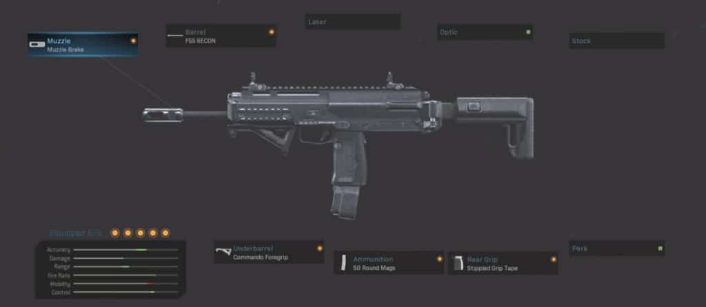 MP7 Killstreak Class Attachment Setup