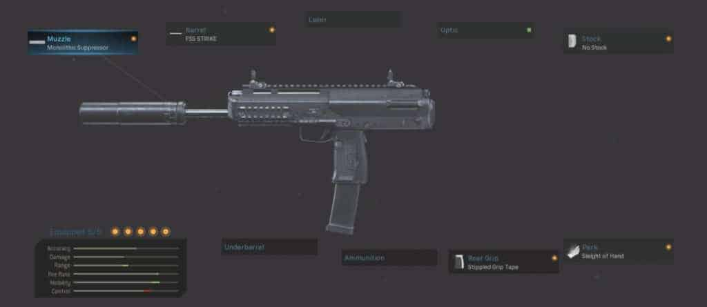 MP7 Rush Class Attachment Setup