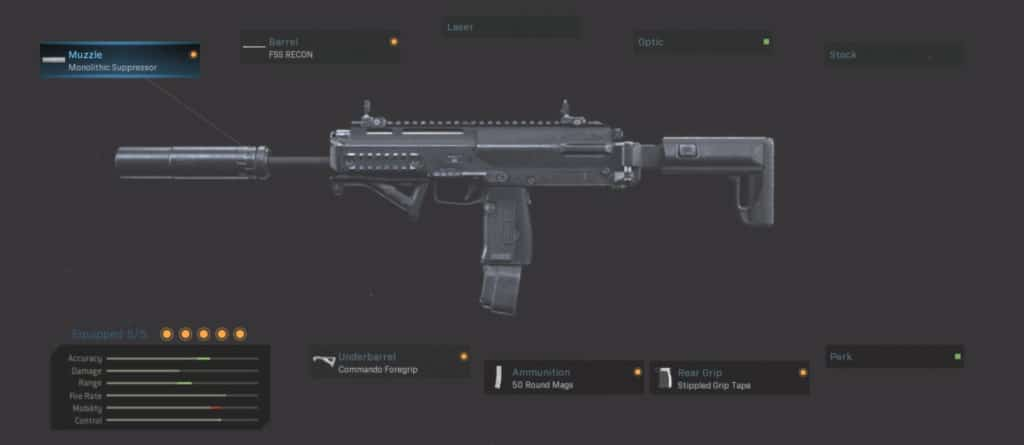 MP7 Stealth Aggressive Class Attachment Setup