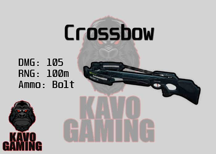 Stats for the Crossbow in PUBG