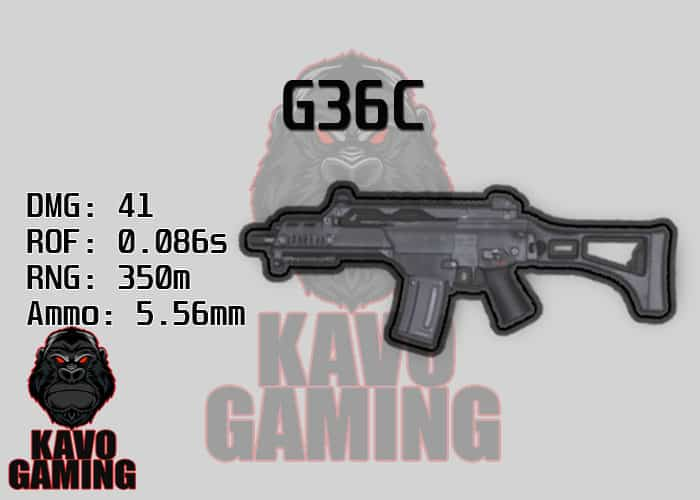 Stats for the G36C in PUBG