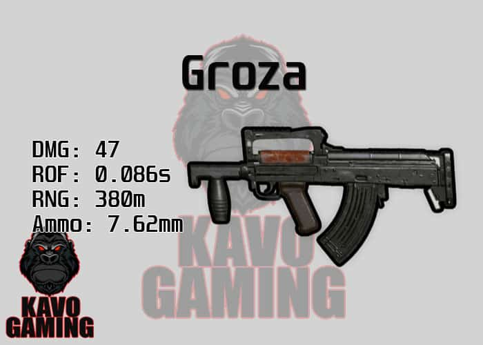 Stats for the Groza in PUBG