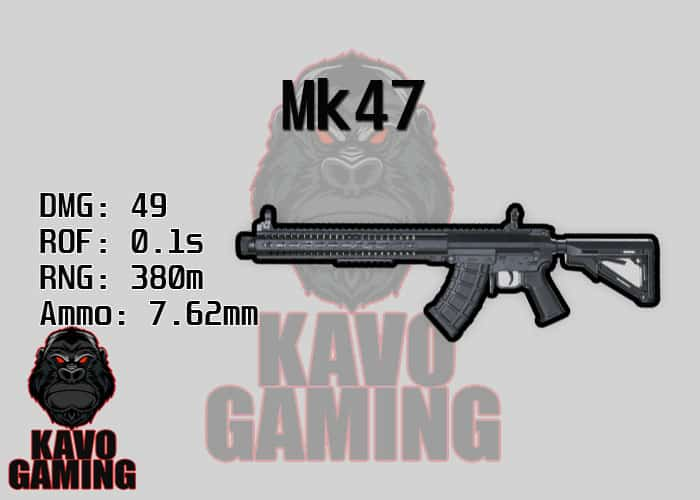 Stats for the Mk47 in PUBG