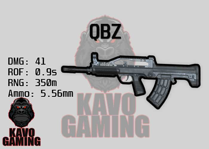 Stats for the QBZ in PUBG