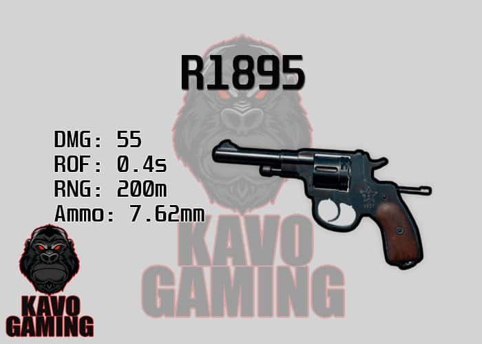 Stats for the R1895 in PUBG