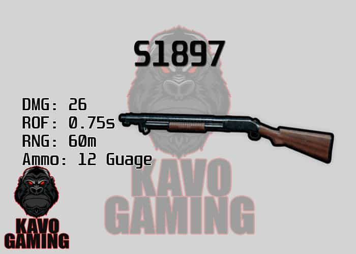 Stats for the S1897 in PUBG