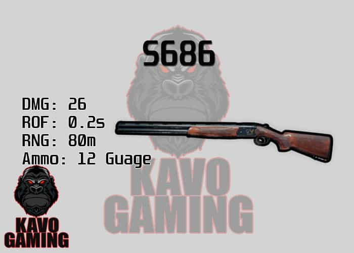 Stats for the S686 in PUBG