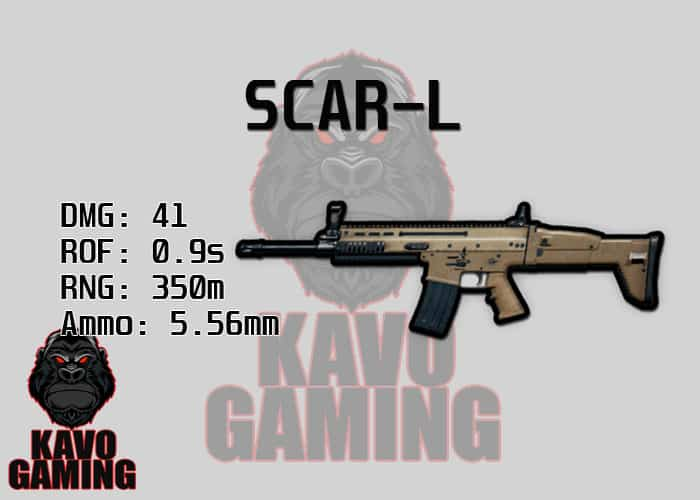 Stats for the SCAR-L in PUBG