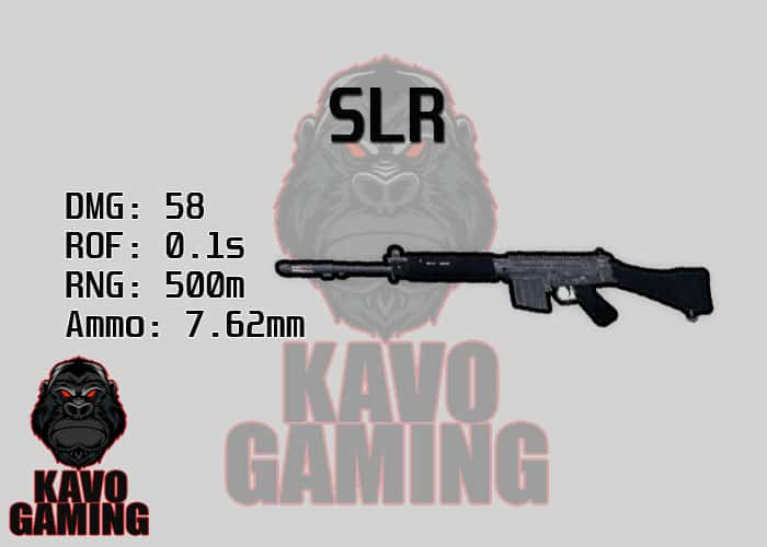 Stats for the SLR in PUBG