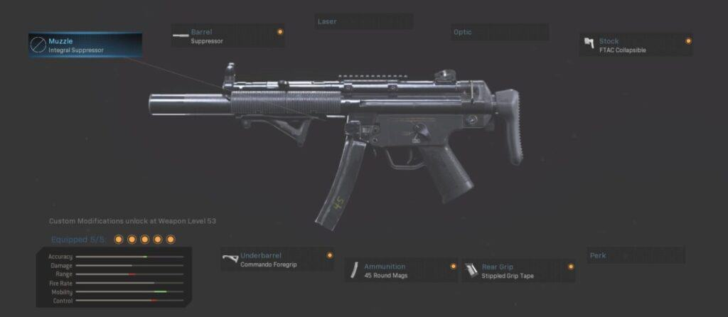 MP5 Gunsmith Warzone Best Loadout