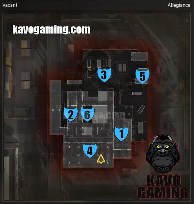Vacant Hardpoint Locations and Rotations
