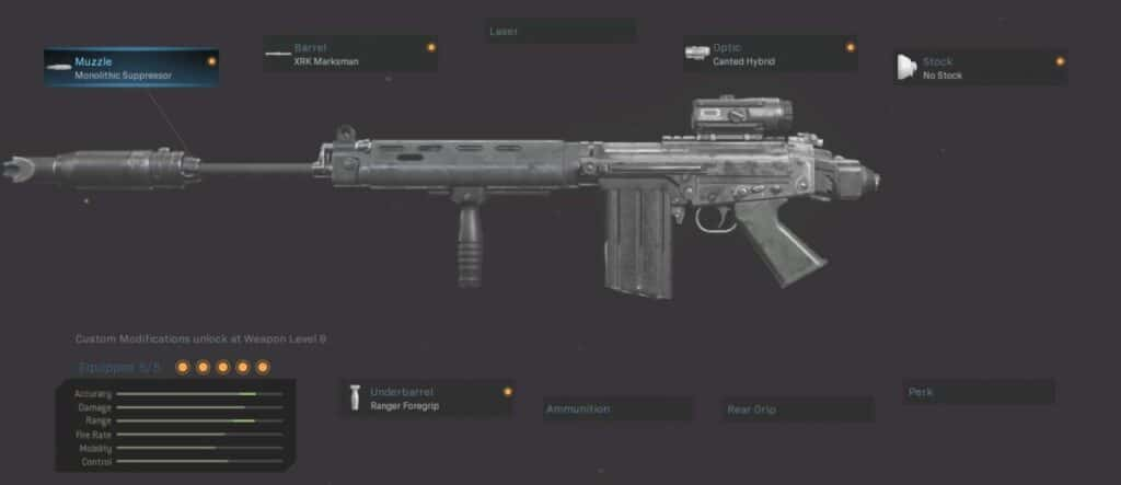FAL Best Loadout Warzone:  Without Trace