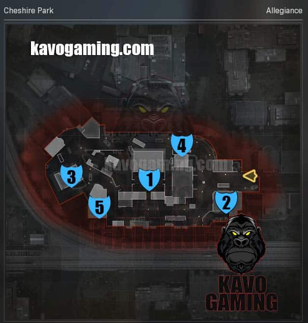 Chesire Park Hardpoint Locations and Rotations
